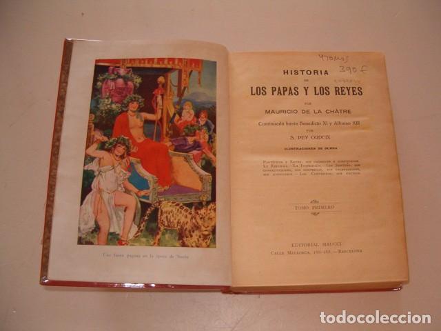 Libros antiguos: Historia de los Papas y los Reyes I, II, III, IV y V. CINCO TOMOS. RM79844. - Foto 2 - 83139348