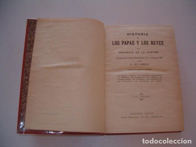 Libros antiguos: Historia de los Papas y los Reyes I, II, III, IV y V. CINCO TOMOS. RM79844. - Foto 6 - 83139348