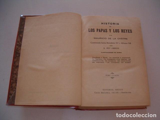 Libros antiguos: Historia de los Papas y los Reyes I, II, III, IV y V. CINCO TOMOS. RM79844. - Foto 8 - 83139348