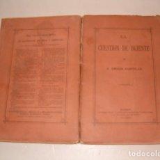Libros antiguos: EMILIO CASTELAR. LA CUESTIÓN DE ORIENTE. RM79848. . Lote 83139932