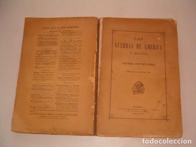 EMILIO CASTELAR. LAS GUERRAS DE AMÉRICA Y EGIPTO. HISTORIA CONTEMPORÁNEA. RM79884. (Libros Antiguos, Raros y Curiosos - Historia - Otros)