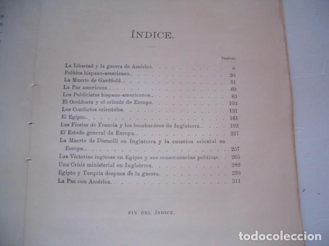 Libros antiguos: EMILIO CASTELAR. Las Guerras de América y Egipto. Historia Contemporánea. RM79884. - Foto 3 - 83155072