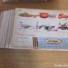 Libros antiguos: FICHAS DE COCINA WALY. 438 DIFERENTES! GASTRONOMÍA. COCINA. RECETAS. Lote 83240000