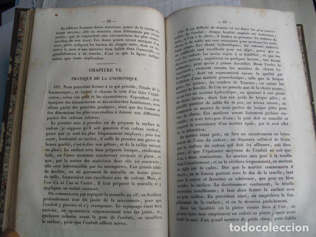 Libros antiguos: 1839 GNOMONIQUE OU ART DE TRACER LES CADRANS SOLAIRES C.S.F. LIVET - Foto 3 - 83268516