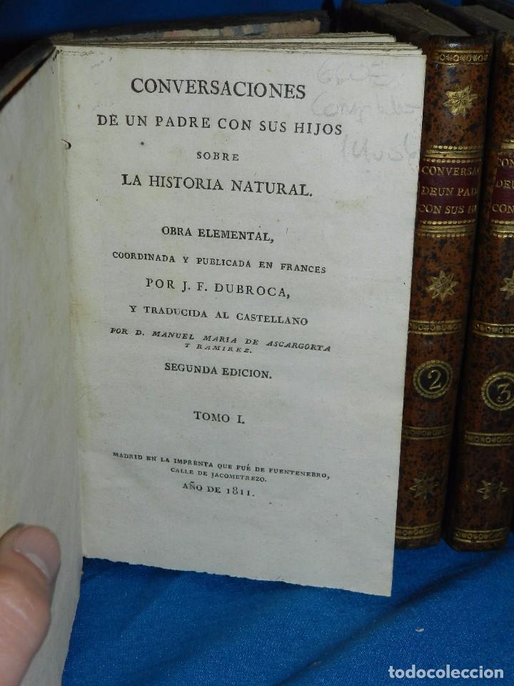 (MF) J F DURROCA - CONVERSACIONES DE UN PADRE CON SUS HIJOS SOBRE LA HISTORIA NATURAL 1811 COMPLETO (Libros Antiguos, Raros y Curiosos - Ciencias, Manuales y Oficios - Otros)