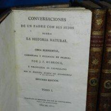 Libros antiguos - (MF) J F DURROCA - CONVERSACIONES DE UN PADRE CON SUS HIJOS SOBRE LA HISTORIA NATURAL 1811 COMPLETO - 83370660