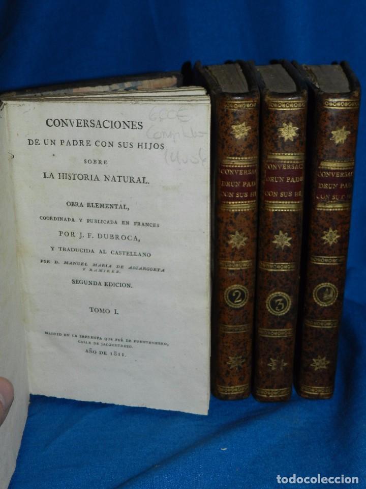 Libros antiguos: (MF) J F DURROCA - CONVERSACIONES DE UN PADRE CON SUS HIJOS SOBRE LA HISTORIA NATURAL 1811 COMPLETO - Foto 2 - 83370660