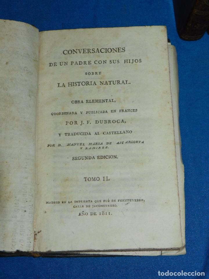 Libros antiguos: (MF) J F DURROCA - CONVERSACIONES DE UN PADRE CON SUS HIJOS SOBRE LA HISTORIA NATURAL 1811 COMPLETO - Foto 3 - 83370660