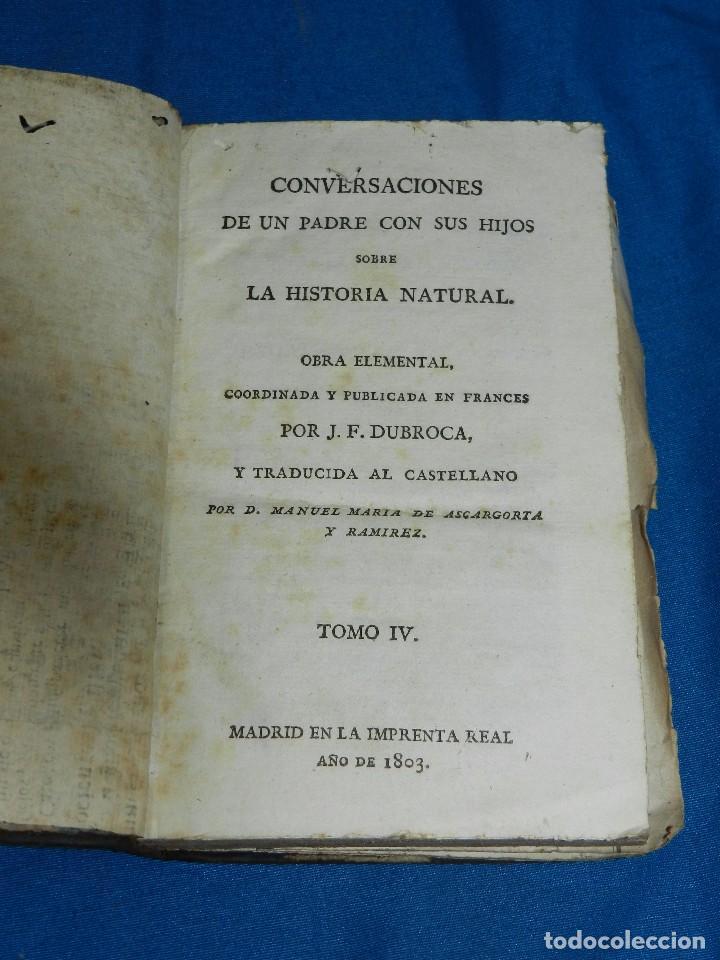 Libros antiguos: (MF) J F DURROCA - CONVERSACIONES DE UN PADRE CON SUS HIJOS SOBRE LA HISTORIA NATURAL 1811 COMPLETO - Foto 6 - 83370660