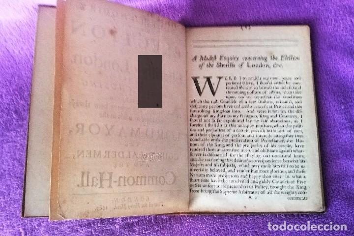 Libros antiguos: A MODEST ENQUIRY CONCERNING THE ELECTION OF THE SHERIFFS OF LONDON 1682 - Foto 3 - 83418116