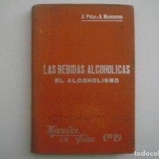 Libros antiguos: MARINONI. LAS BEBIDAS ALCOHOLICAS. EL ACOHOLISMO. 1900. MANUALES SOLER. ILUSTRADO.. Lote 83582620