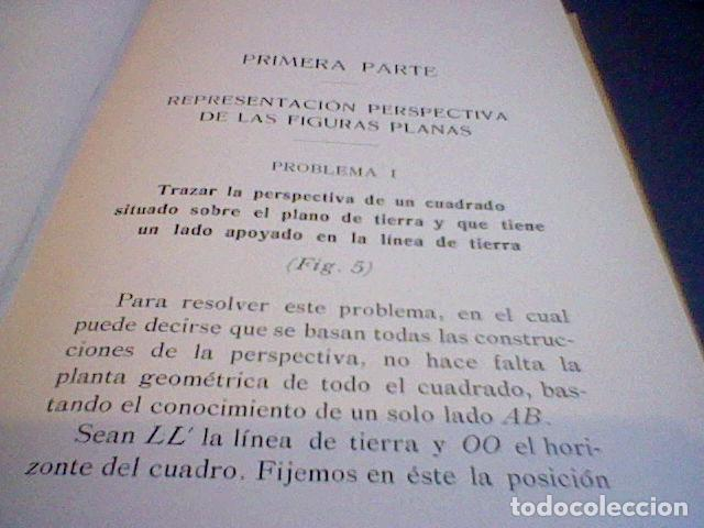 Libros antiguos: C. CLAUDI MANUAL PERSPECTIVA 1914 - Foto 5 - 83704780