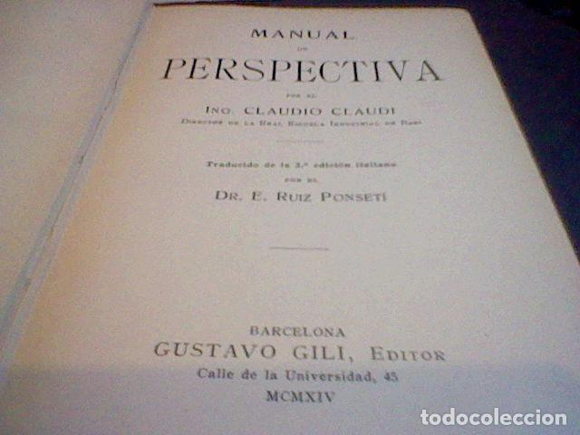 Libros antiguos: C. CLAUDI MANUAL PERSPECTIVA 1914 - Foto 6 - 83704780