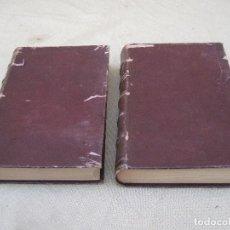 Libros antiguos: LOTE: COURS DE CHEMINS DE FER(VIAS DE HIERRO) FERROCARRILES - TOMOS I - II - AÑO 1894 - FERROCARRIL.. Lote 83762760