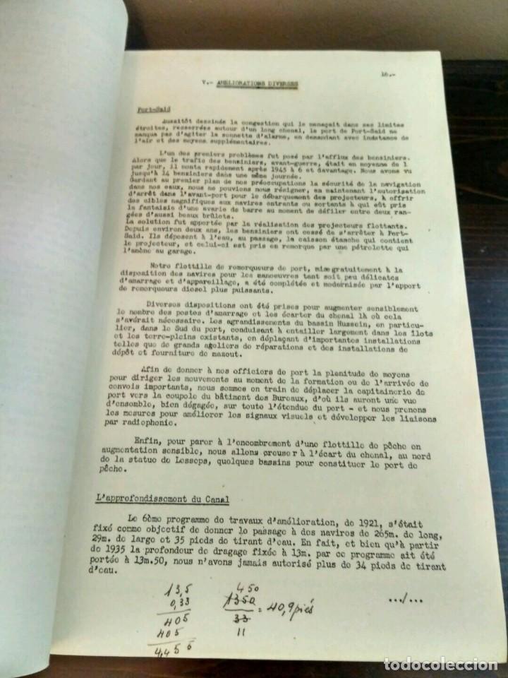 Libros antiguos: CONFÉRENCE SUS LE CANAL DE SUEZ E. LAFFAILLE. CHEF ADJOINT DE TRANSIT NOVEMBRE 1950 ISMAILIA - Foto 4 - 84102308