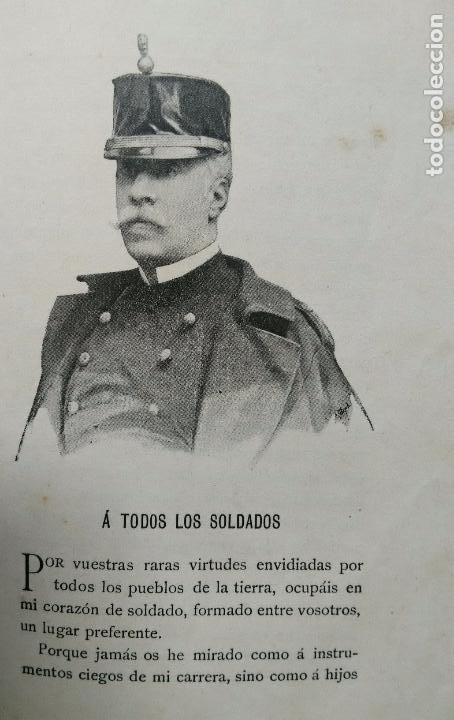 Libros antiguos: CUENTOS MILITARES. JUAN SALCEDO. ILUSTRACIONES DE PICOLO. AÑO 1895 - Foto 7 - 84627196
