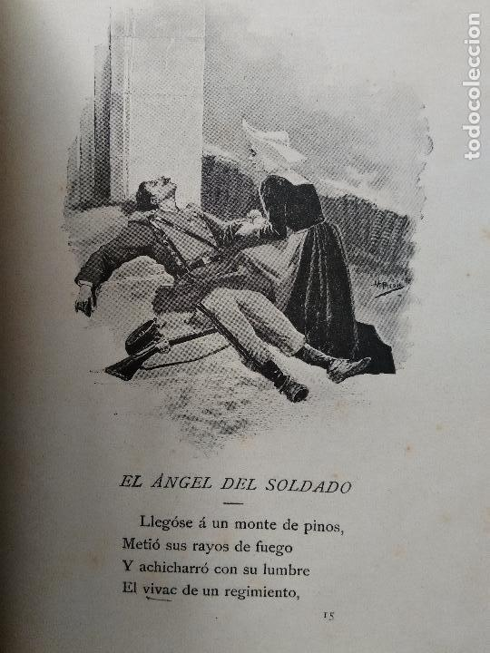 Libros antiguos: CUENTOS MILITARES. JUAN SALCEDO. ILUSTRACIONES DE PICOLO. AÑO 1895 - Foto 8 - 84627196