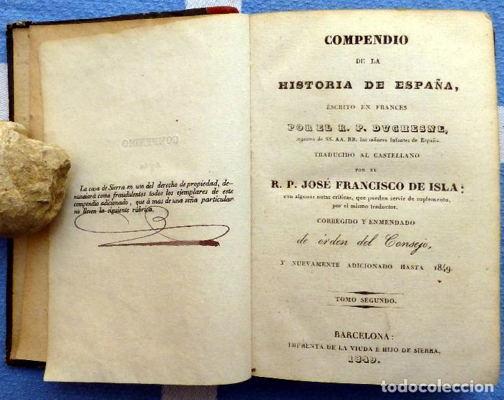 Libros antiguos: ISLA.- COMPENDIO DE LA HISTORIA DE ESPAÑA- TOMO SEGUNDO- 1849 - Foto 2 - 84822732