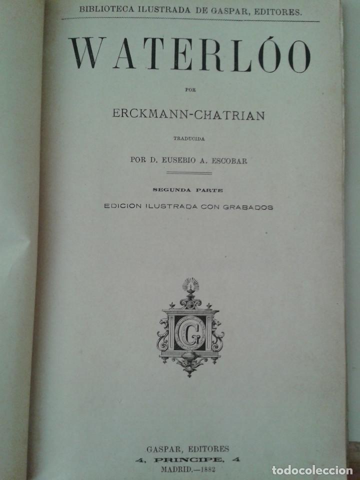 Libros antiguos: WATERLOO - Foto 3 - 84900464