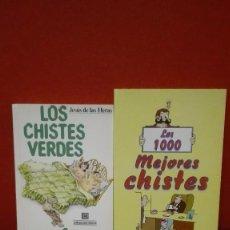 Libros antiguos: LIBROS DE CHISTES VERDES Y LOS MEJORES 1000 CHISTES. Lote 84991576