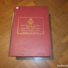 Libros antiguos: MEMORIA RESUMEN DE LOS TRABAJOS DE AVANCE CATASTRAL PROVINCIA ALBACETE 1909 MINISTERIO HACIENDA. Lote 85216428