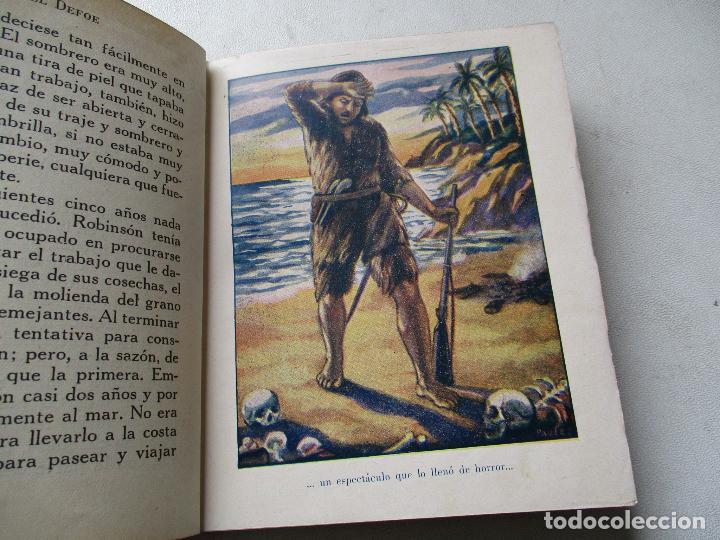 Libros antiguos: AVENTURAS DE ROBINSÓN CRUSOE, JEANIE LANG-ARALUCE-BARCELONA , S/F AÑOS 30 - Foto 4 - 85278764