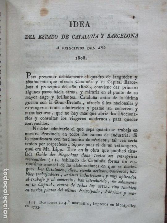 Libros antiguos: BARCELONA CAUTIVA, Ó SEA DIARIO EXACTO DE LO OCURRIDO... RAYMUNDO FERRER. VOL I. 1808. - Foto 4 - 85434116