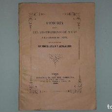 Libros antiguos: CADIZ - MEMORIA ABASTECIMIENTO DE AGUA A LA CIUDAD - D. MIGUEL AYLLON ALTOLAGUIRRE - AÑO 1.862. Lote 85488136
