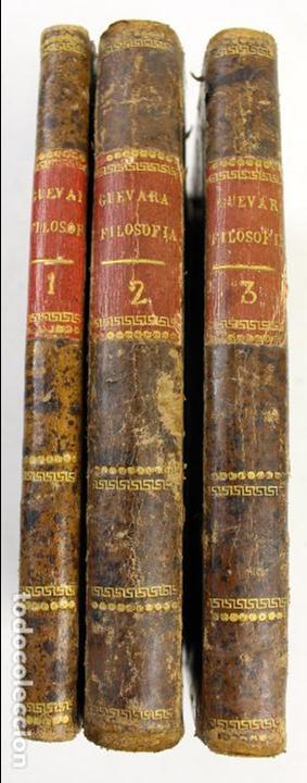 L-2041. INSTITUTIONUM ELEMENTARIUM PHILOSOPHIAE. ANDREA DE GUEVARA. 3 LIBROS. VENETIIS, 1819. (Libros Antiguos, Raros y Curiosos - Ciencias, Manuales y Oficios - Otros)