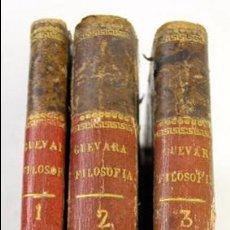 Libros antiguos: L-2041. INSTITUTIONUM ELEMENTARIUM PHILOSOPHIAE. ANDREA DE GUEVARA. 3 LIBROS. VENETIIS, 1819.. Lote 86680323