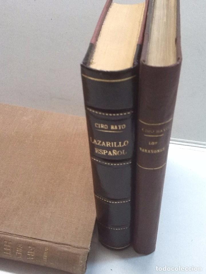 CIRO BAYO: LAZARILLO ESPAÑOL (1911) Y LOS MARAÑONES (1913) (Libros antiguos (hasta 1936), raros y curiosos - Literatura - Narrativa - Otros)