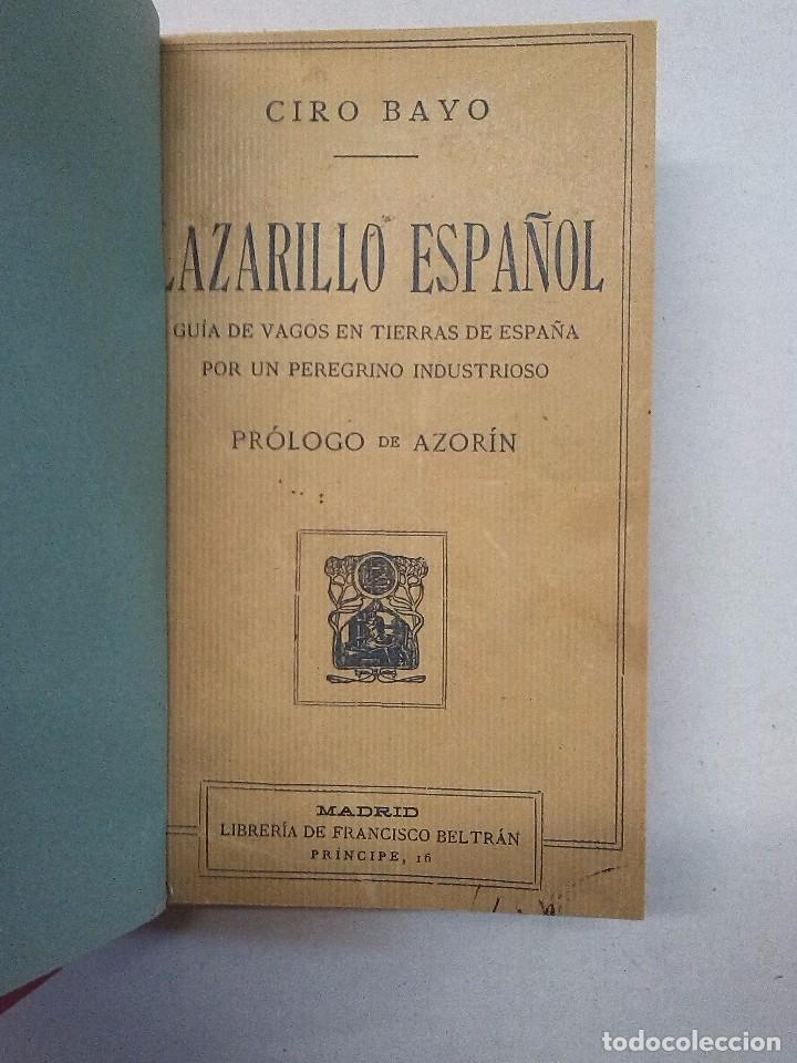 Libros antiguos: Ciro Bayo: Lazarillo español (1911) y Los Marañones (1913) - Foto 3 - 85607656