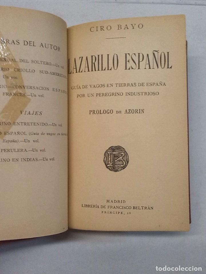 Libros antiguos: Ciro Bayo: Lazarillo español (1911) y Los Marañones (1913) - Foto 4 - 85607656