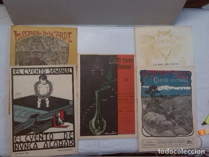 EL CUENTO SEMANAL. 5 NÚMEROS SUELTOS (Libros antiguos (hasta 1936), raros y curiosos - Literatura - Narrativa - Otros)
