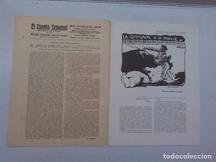 Libros antiguos: El Cuento semanal. 5 números sueltos - Foto 3 - 85791520