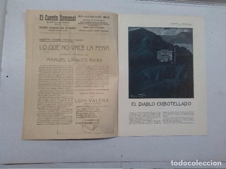 Libros antiguos: El Cuento semanal. 5 números sueltos - Foto 5 - 85791520