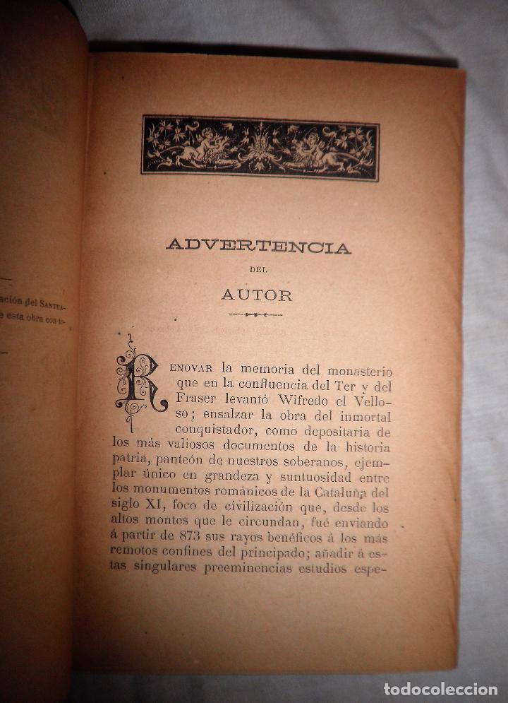 Libros antiguos: HISTORIA DEL MONASTERIO DE RIPOLL - AÑO 1888 - PELLICER. - Foto 4 - 86058292