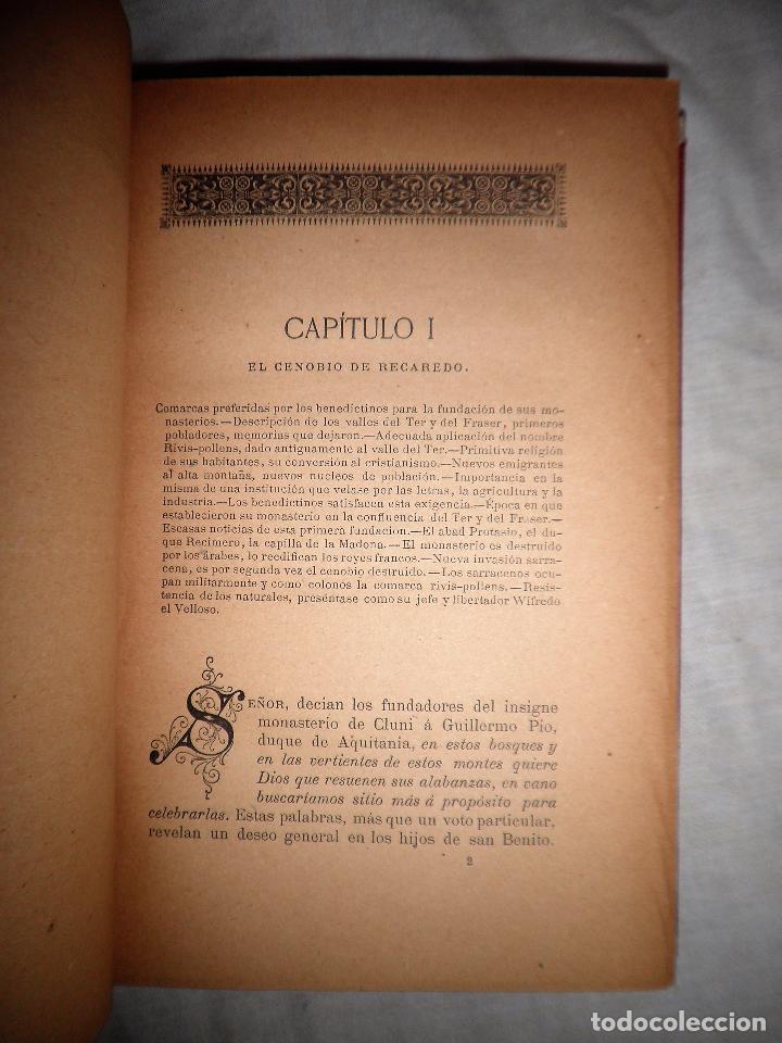 Libros antiguos: HISTORIA DEL MONASTERIO DE RIPOLL - AÑO 1888 - PELLICER. - Foto 6 - 86058292