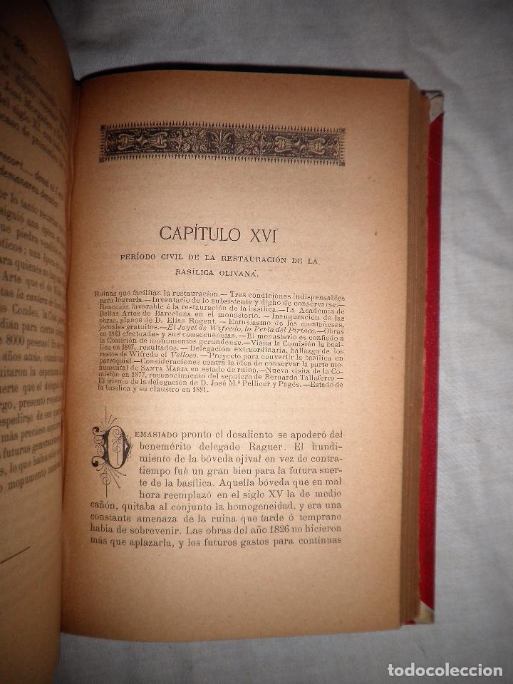 Libros antiguos: HISTORIA DEL MONASTERIO DE RIPOLL - AÑO 1888 - PELLICER. - Foto 7 - 86058292
