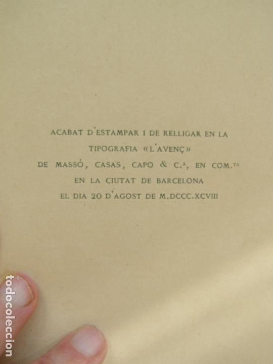 Libros antiguos: SANTIAGO RUSIÑOL. FULLS DE LA VIDA. 1898 EDITORIAL L´AVENC.BARCELONA. DIBUJOS RAMON PICHOT - Foto 3 - 86088480