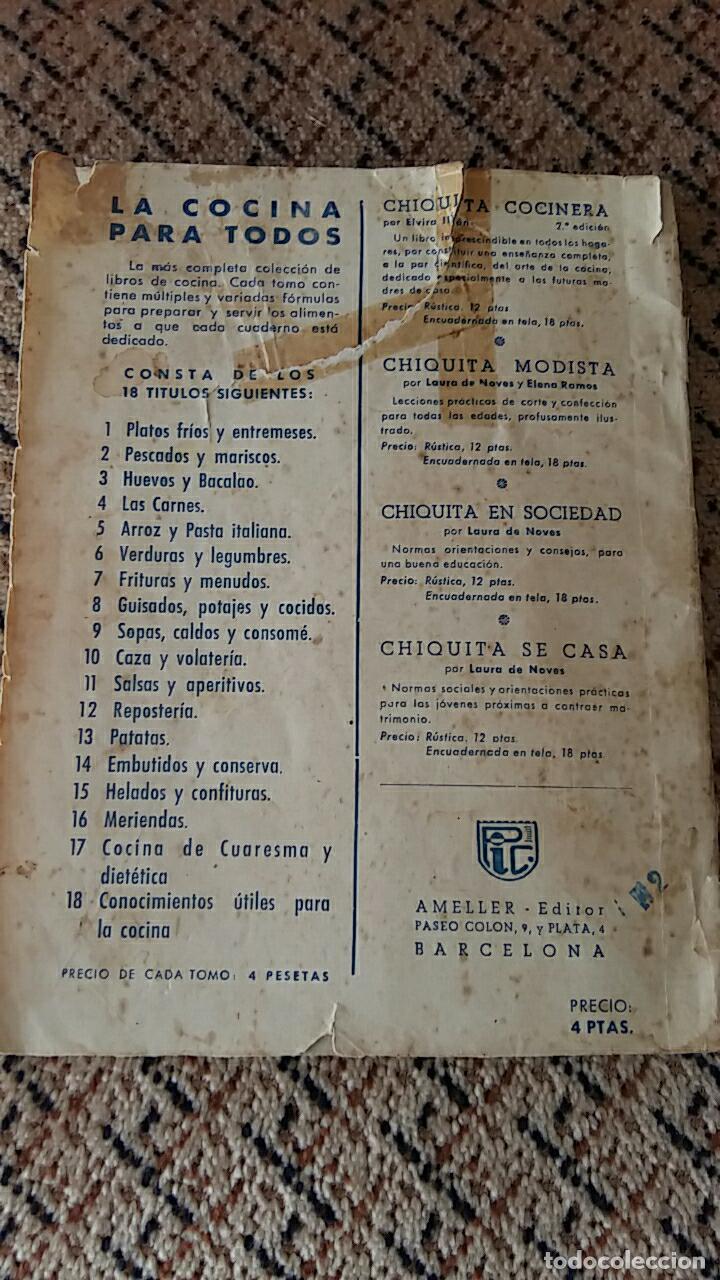 Libros antiguos: LIBRO LA COCINA PARA TODOS REPOSTERIA. R FERRO. EDIT AMELLER, infinidad de recetas - Foto 4 - 86089260