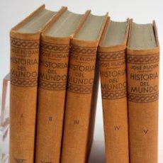 Libri antichi: L-1195. HISTORIA DEL MUNDO. J. PIJOAN. SALVAT EDITORES, AÑO 1926. 5 TOMOS. COMPLETA. 1ª EDICIÓN.. Lote 86121956