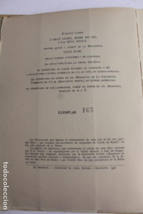 Libros antiguos: L- 467. L' ABAT OLIBA, BISBE DE VIC I LA SEVA ÈPOCA, RAMON D'ABADAL. - Foto 4 - 86128484