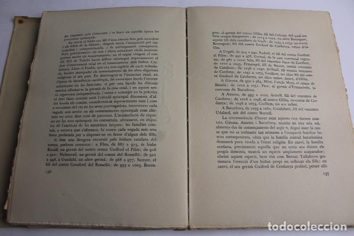 Libros antiguos: L- 467. L' ABAT OLIBA, BISBE DE VIC I LA SEVA ÈPOCA, RAMON D'ABADAL. - Foto 8 - 86128484