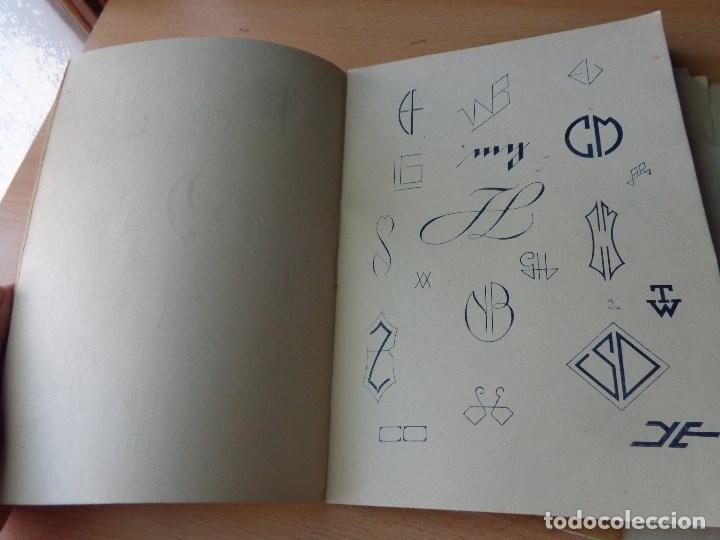 Libros antiguos: MONOGRAMAS ,MARCAS Y ENLACES PARA LECERIA Y USO COMERCIAL -LIBRERIA C.SEITHER- EDITORIAL ORBIS - Foto 7 - 86152508