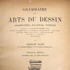Libros antiguos: L-3689. GRAMMAIRE DES ARTS DU DESSIN. PAR CHARLES BLANC. LIBRAIRIE RENOUARD, PARIS, 1876.. Lote 86281228