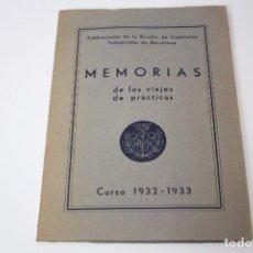 Libros antiguos: MEMORIAS VIAJES 1932-1933 INGENIEROS INDUSTRIALES (CON FOTOGRAFÍAS ÉPOCA) . Lote 86380448