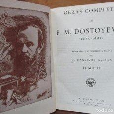 Libros antiguos: DOSTOYEVSKI OBRAS COMPLETAS (1870-1881). TOMO II. AGUILAR. 1935.. Lote 86383340