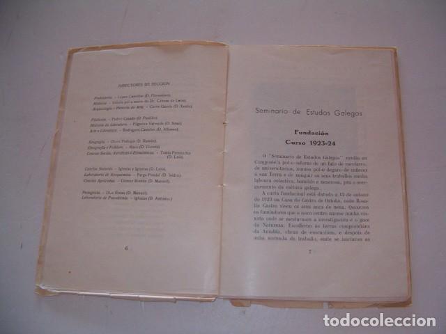 Libros antiguos: Seminario de Estudos Galegos. Dez Cursos de Traballo. 1923-1934. RM80610. - Foto 4 - 86384832
