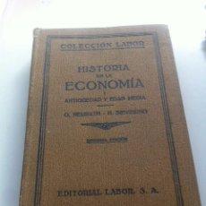 Libros antiguos: HISTORIA DE LA ECONOMÍA I - ANTIGÜEDAD Y EDAD MEDIA -- HEINRICH SIEVERINO EDITORIAL LABOR - 1930. Lote 86427440